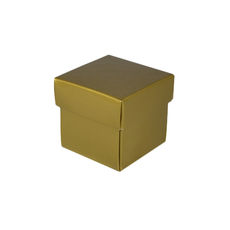 Square Tiny Gift Box - Gloss Gold