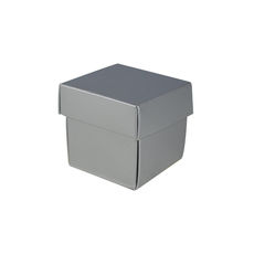 NOW $1.50ea - 100 x Square Tiny Gift Box - Gloss Silver