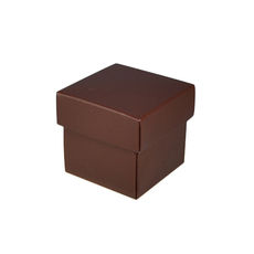 Square Tiny Gift Box - Matt Chocolate