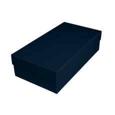 Slim Line Double Wine Gift Box - Gloss Navy Blue (optional insert available)