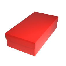 Slim Line Double Wine Gift Box - Gloss Red (optional insert available)