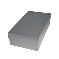 Slim Line Double Wine Gift Box - Gloss Silver (optional insert available)