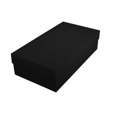 Slim Line Double Wine Gift Box - Matt Black (optional insert available)
