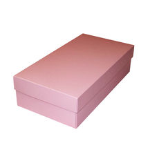 Slim Line Double Wine Gift Box - Matt Pink (optional insert available)