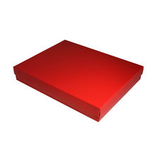 Slim Line A4 Gift Box - Gloss Red