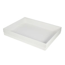 Slim Line A4 Gift Box - Gloss White with Clear Lid