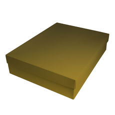 Slim Line Shirt Gift Box 90mm high - Gloss Gold