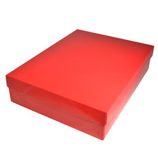 Slim Line Shirt Gift Box 90mm high - Gloss Red