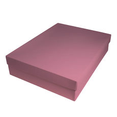Slim Line Shirt Gift Box 90mm high - Matt Pink
