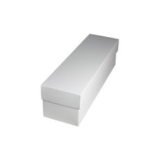 Slim Line Single Wine Gift Box - Gloss White
