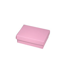 NOW $0.75ea - 135 x Slim Line Jewellery Box Medium  - Matt Pink