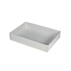 Slim Line C6 Gift Box - Budget White with Clear Lid