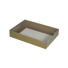Slim Line C6 Gift Box - Gloss Gold with Clear Lid