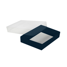 Slim Line C6 Gift Box - Gloss Navy Blue with Clear Lid