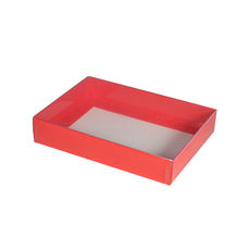 Slim Line C6 Gift Box - Gloss Red with Clear Lid