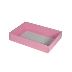 Slim Line C6 Gift Box - Matt Pink with Clear Lid