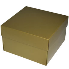 Square Large Gift Box - Gloss Gold