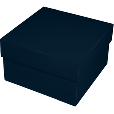 Square Large Gift Box - Gloss Navy Blue