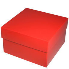 Square Large Gift Box - Gloss Red