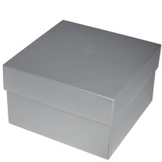 Square Large Gift Box - Gloss Silver