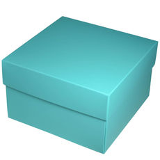 Square Large Gift Box - Matt Blue