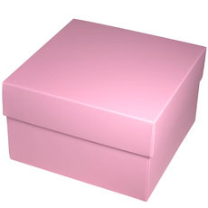 Square Large Gift Box - Matt Pink