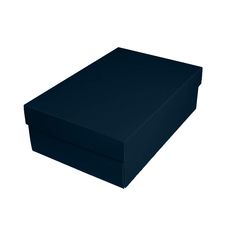 Shoe Gift Box - Gloss Navy Blue