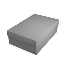 Shoe Gift Box - Gloss Silver