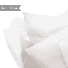 White Tissue Paper - Acid Free 500 x 760mm (Bulk 480 Sheets)