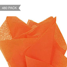 Orange Tissue Paper - 500 x 760mm (Bulk 480 Sheets)
