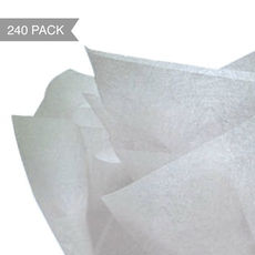 Silver Tissue Paper - Single Sided 500 x 760mm (Bulk 240 Sheets)