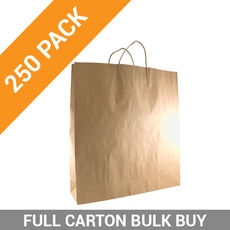 Brown Kraft Paper Gift Bag Large - 250PK