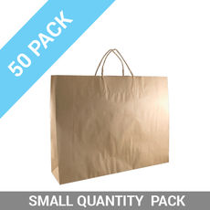 50 PACK - Brown Kraft Paper Gift Bag Boutique