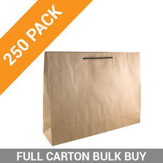 Deluxe Brown Kraft Paper Gift Bag Boutique - 250PK