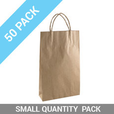 50 PACK - Brown Kraft Paper Gift Bag Baby