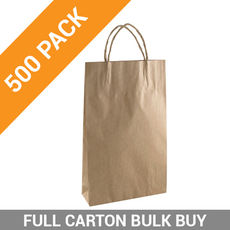 Brown Kraft Paper Gift Bag Baby - 500PK