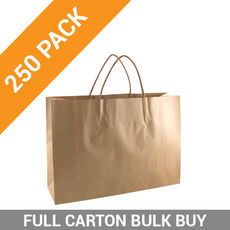 Brown Kraft Paper Bag Small Boutique - 250PK