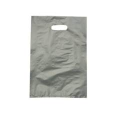 Plastic Bag High Density Large Silver - 1000PK