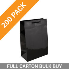 Gloss Black Paper Bag Baby - 200PK