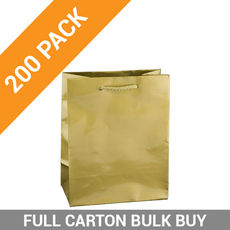 Gloss Gold Paper Bag Baby - 200PK