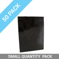 50 PACK - Gloss Black Paper Gift Bag Large