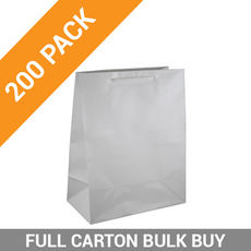 Gloss White Paper Bag Medium - 200PK