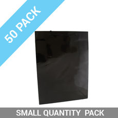 50 PACK - Gloss Black Paper Gift Bag Medium