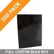 Gloss Black Paper Bag Medium - 200PK