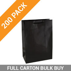 Gloss Black Paper Bag Small - 200PK