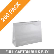 Gloss White Paper Bag Small Boutique - 200PK