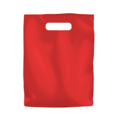 Plastic Bag Low Density Small - Red 1000PK