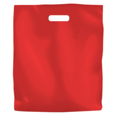 Plastic Bag Low Density Large - Red 500PK