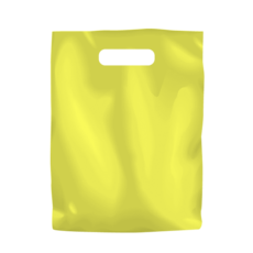 Plastic Bag Low Density Small - Yellow 1000PK