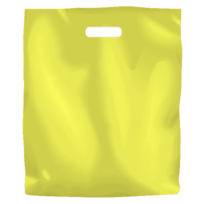 Plastic Bag Low Density Large - Yellow 500PK